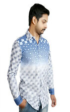 Men's Casual shirt in Sky Blue 100% Authentic Cotton Shirt. Start Your Day