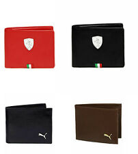 puma and woodland leather + non leather  wallet