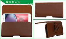 Holster Belt Case Leather Pouch Cover Compatible For Motorola Moto G Forte