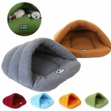 Pet Dog Cat Kitten Cave Crate Cozy Warm Winter Bed House Sleeping Bag Plush Mat