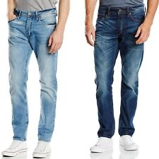 Jack & Jones Mens Blue JJ Original Slim Regular Straight Leg Jeans Blue Denim