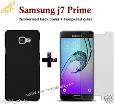 For Samsung Galaxy *J7 Prime* Rubberized Matte Hard Back Case Cover
