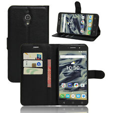 Luxury Flip Stand Leather Cover Wallet Case for Alcatel Series Phones