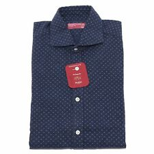 7349Q camicia uomo BARBA DANDYLIFE manica lunga blu long sleeve shirt men