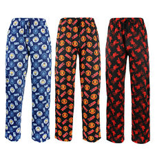 Mens Boys Football Lounge Pyjama Pants Manchester City United Liverpool Size