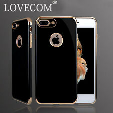 "For APPLE IPHONE 7 4.7"" LUXURY CHROME BUMPER SOFT SHINE TPU BACK CASE COVER"