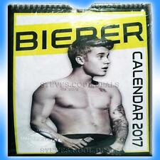 Calendar 2017 Justin Bieber 100% unofficial Month To View Bedroom Wall Calender