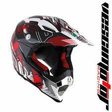 AGV AX-8 EVO Nofoot Matt White/Red