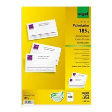 SIGEL PC 185GM CARTES DE VISITE POUR INKJET/LASER/COPIEUR HAUT BLANC (150 LOT)