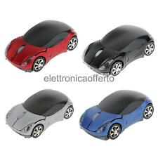 Mouse Forma di Auto con USB Ricevitore Wireless per Notebook Computer, Regalo