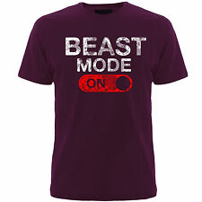 Gym Slogan T-shirts  ( Beast Mode On ) slogan tshirts,mens
