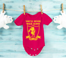 Baby's Liverpool football RED bodysuit  baby grow vest. Baby shower gift