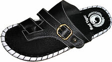 Red Tiger slippers in Black Color Leather Mens Thong Slippers