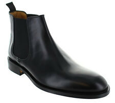John White Chelsea Calf Black  Leather Men Boots