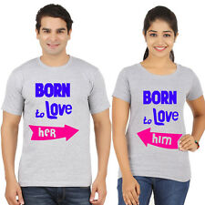 couple tshirts (Born to love) valentines day t-shirts, lovers tees,