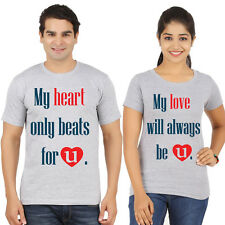couple Tees (my heartbeat for him/her) valentines day tshirts, lovers t-shirts,