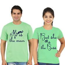 couple t-shirts (man and boss) valentines day tshirts, lovers tees,