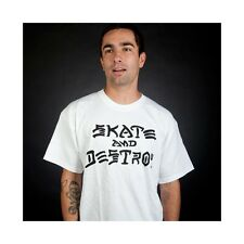 CAMISETA THRASHER SKATE & DESTROY WHITE