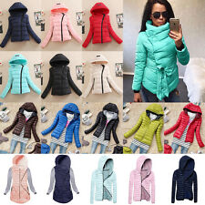 Ladies Quilted Padded Puffer Bubble Jacket Coat Winter Warm Womens Parka Outwear