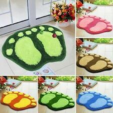 Non-Slip Absorbent Bathroom Bedroom Rug Wool Carpet Soft Shower Mat Bath Floor