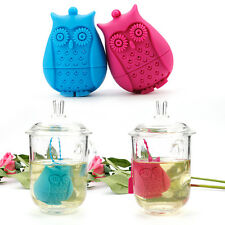 Silicone Tea Leaf  Strainer Teapot Filter Cute Owl Shape Herbal Spice Infuser