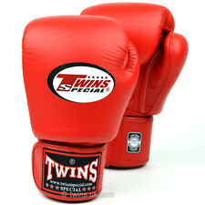 Twins Red Muay Thai Velcro Boxing  Gloves