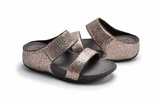 Brand New FitFlop 638-012 Women's Bronze Lulu Superglitz Slide Sandals