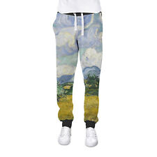 Vincent Van Gogh Fine Art Painting Cuffed Joggers Womens Sweatpants Jogging Bott