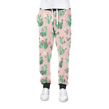 Cactus In Bloom Cuffed Joggers Womens Sweatpants Jogging Bottoms