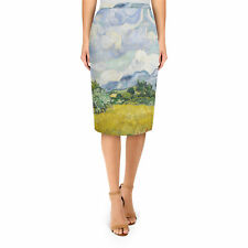 Vincent Van Gogh Fine Art Painting Midi Pencil Skirt XS - 3XL Bodycon
