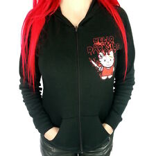 Hello Darkside Ladies Light Weight Slim Fit Kitty Heads Hoodie