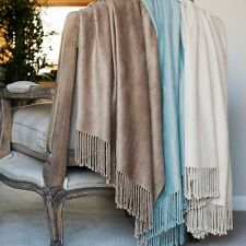 Bamboo Throw - Luxury 100% Brushed Bamboo Throw - Assorted Colours