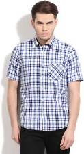 Pepe Jeans Mens Checkered Casual Blue, White Shirt (Flat 60% OFF) -9RC