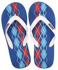 Flipside Men's Argyle Blue  Slippers