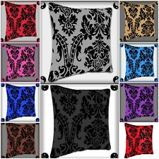 "NEW CUSHION COVERS 2X,4X,6X,FLOCK DAMASK LUXURY CUSHIONS 18""X18"" CUSHION COVER"
