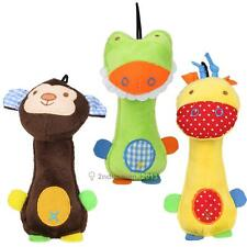 New Dogs Toy Pet Puppy Plush Sound Chew Squeaker Squeaky Giraffe Monkey Frog