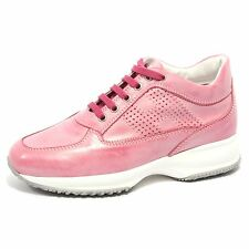 B1730 sneaker donna HOGAN INTERACTIVE H BUCATA scarpa rosa shoes women