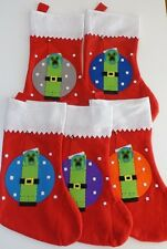 Handmade Creeper Christmas Stocking Inspired by Minecraft video game