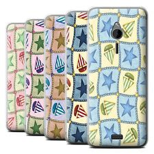 STUFF4 Phone Case/Back Cover for Nokia 230 /Boat/Stars Pattern