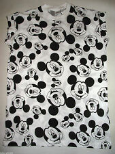PRIMARK LADIES DISNEY MONOCHROME MICKEY MOUSE T SHIRT TEE TOP UK 6