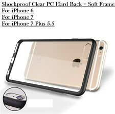 Ultra thin Anti-knock TPU Frame and Clear PC Back Cover for Apple iPhone 6/ 7/7+
