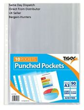 A3 Portrait Punched Pockets (90 micron) - Ring Binder Sleeves Wallets