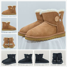 UGG Australia 3352 Mini Bailey Button Women Winter Boots Black UK Size 3.5/EU 36