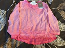 BNWT Girls Long Sleeved Pink Pigment Dyed  Next Top Age 2-3 Years