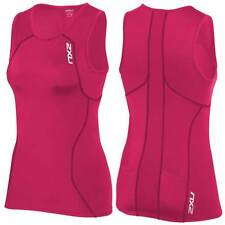 2XU Active Womens Tri Top Cherry Pink/Ink