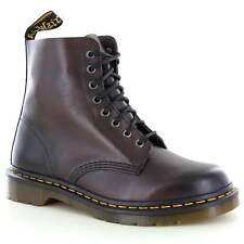 Dr Martens Pascal Unisex Leather 8-Eyelet Boots Brown