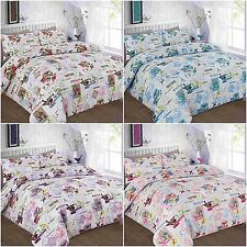 NEW TILLY BIRDS FLORAL BUTTERFLY DUVET COVER SET SINGLE DOUBLE KING SUPERKING