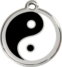 médaille chien ou chat red dingo yin yang 3 tailles