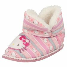 filles HELLO KITTY chaussons bottine rose avec laineux doublure 320/3193