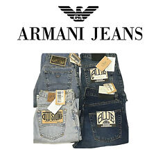 Jeans uomo donna ARMANI Jeans NO LEVIS Blue Power Old Stone denim nuovo